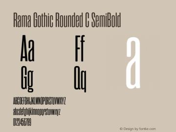 RamaGothicRoundedC-SemiBold Version 1.000;PS 001.000;hotconv 1.0.88;makeotf.lib2.5.64775图片样张