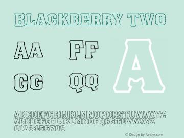Blackberry Two Version 1.000;hotconv 1.0.109;makeotfexe 2.5.65596图片样张