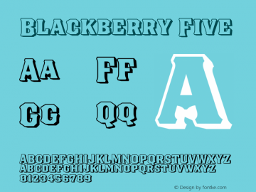 Blackberry Five Version 1.000;hotconv 1.0.109;makeotfexe 2.5.65596图片样张