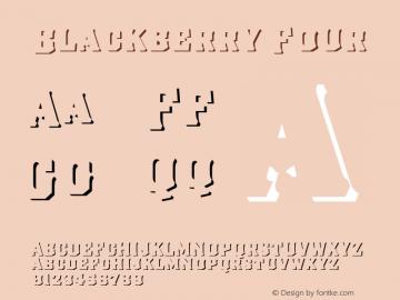 Blackberry Four Version 1.000;hotconv 1.0.109;makeotfexe 2.5.65596图片样张