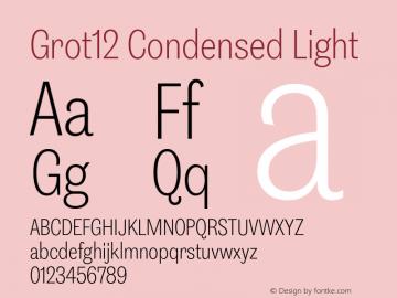 Grot12Condensed-Light Version 1.0图片样张