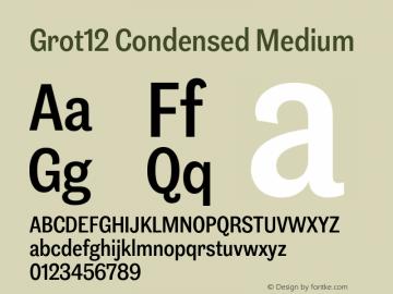 Grot12Condensed-Medium Version 1.0图片样张