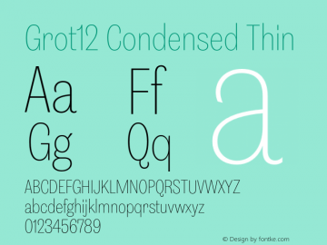 Grot12Condensed-Thin Version 1.0图片样张