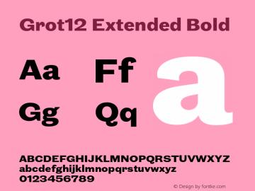Grot12Extended-Bold Version 1.0图片样张