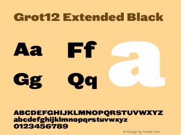 Grot12Extended-Black Version 1.0图片样张