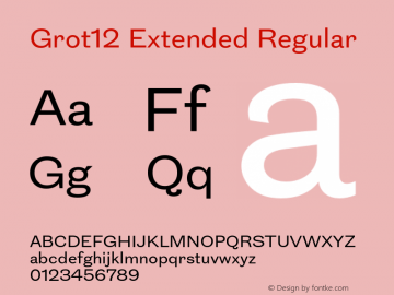 Grot12Extended-Regular Version 1.0图片样张