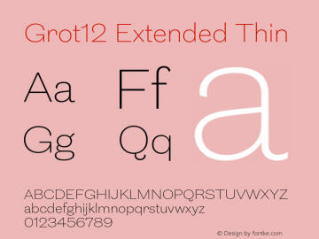 Grot12Extended-Thin Version 1.0图片样张