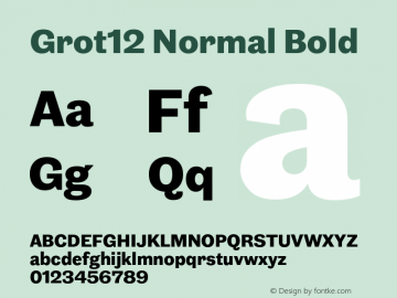 Grot12Normal-Bold Version 1.0图片样张