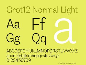 Grot12Normal-Light Version 1.0图片样张