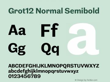 Grot12Normal-Semibold Version 1.0图片样张