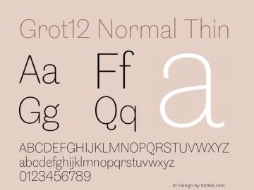 Grot12Normal-Thin Version 1.0图片样张