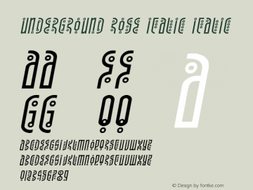 Underground Rose Italic Version 1.1; 2019图片样张