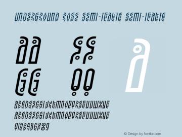 Underground Rose Semi-Italic Version 1.1; 2019图片样张