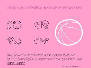 Kid Knowledge Clipart Version 1.00;April 14, 2019;FontCreator 11.0.0.2408 32-bit图片样张