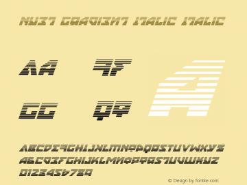 Nyet Gradient Italic Version 2.1; 2019图片样张