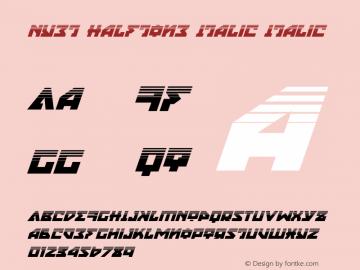 Nyet Halftone Italic Version 2.1; 2019图片样张