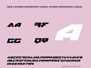 Nyet Extra-Expanded Italic Version 2.1; 2019图片样张