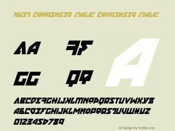 Nyet Condensed Italic Version 2.1; 2019图片样张