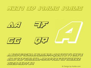 Nyet 3D Italic Version 2.0; 2015图片样张