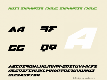 Nyet Expanded Italic Version 2.1; 2019图片样张