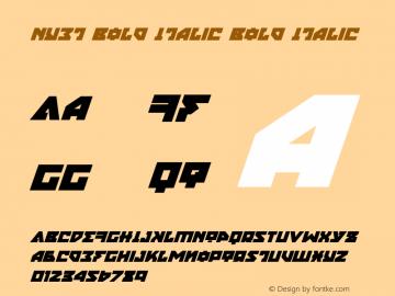 Nyet Bold Italic Version 2.1; 2019图片样张