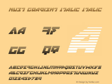 Nyet Gradient Italic Version 2.1; 2019图片样张