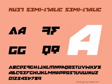 Nyet Semi-Italic Version 2.1; 2019图片样张