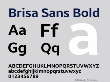 Brisa Sans Bold Version 1.102;July 10, 2019;FontCreator 11.5.0.2425 64-bit图片样张
