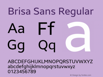 Brisa Sans Version 1.101;July 10, 2019;FontCreator 11.5.0.2425 64-bit图片样张