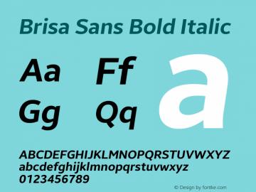 Brisa Sans Bold Italic Version 1.102;July 10, 2019;FontCreator 11.5.0.2425 64-bit图片样张