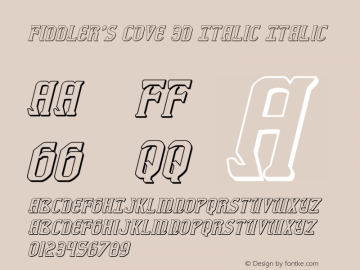 Fiddler's Cove 3D Italic Version 1.0; 2012图片样张