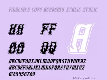 Fiddler's Cove Academy Italic Version 1.0; 2012图片样张