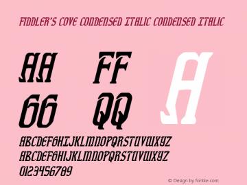 Fiddler's Cove Condensed Italic Version 1.0; 2012图片样张