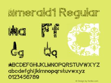 Emerald1 Version 1.00;June 22, 2018;FontCreator 11.0.0.2408 32-bit图片样张