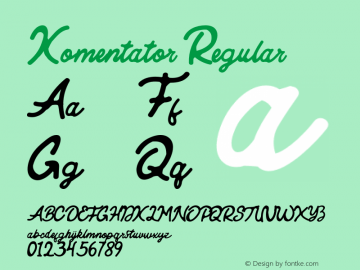 Komentator Version 1.000; Arendxstudio圖片樣張