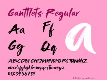Ganttlets-Regular Version 1.000图片样张