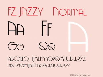 FZ JAZZY 5 Normal 1.0 Wed Apr 20 16:20:58 1994 Font Sample