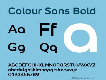 Colour Sans Font Family|Colour Sans-Sans-serif Typeface-Fontke com
