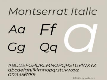 Montserrat Italic Version 7.200图片样张