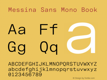 MessinaSansMono-Book Version 3.000图片样张