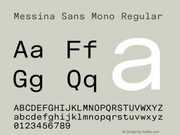 MessinaSansMono-Regular Version 3.000图片样张