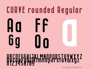CURVE rounded Font,CURVErounded Font|CURVE rounded Version 1 00