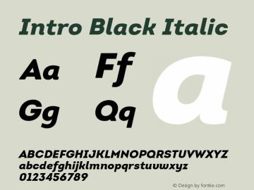 Intro-BlackItalic Version 1.000图片样张