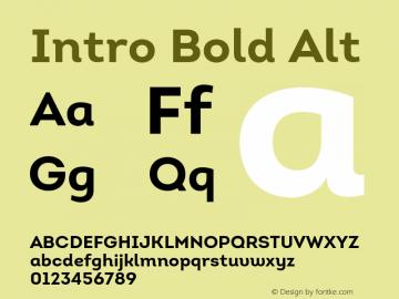 Intro-BoldAlt Version 1.000图片样张