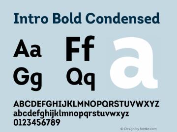Intro-BoldCondensed Version 1.000图片样张