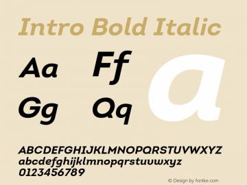 Intro-BoldItalic Version 1.000图片样张