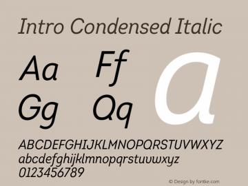 Intro-CondensedItalic Version 1.000图片样张
