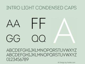 Intro-LightCondensedCaps Version 1.000图片样张
