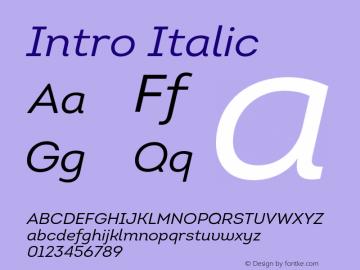 Intro-RegularItalic Version 1.000图片样张