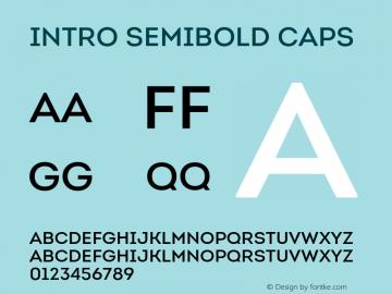 Intro-SemiBoldCaps Version 1.000图片样张